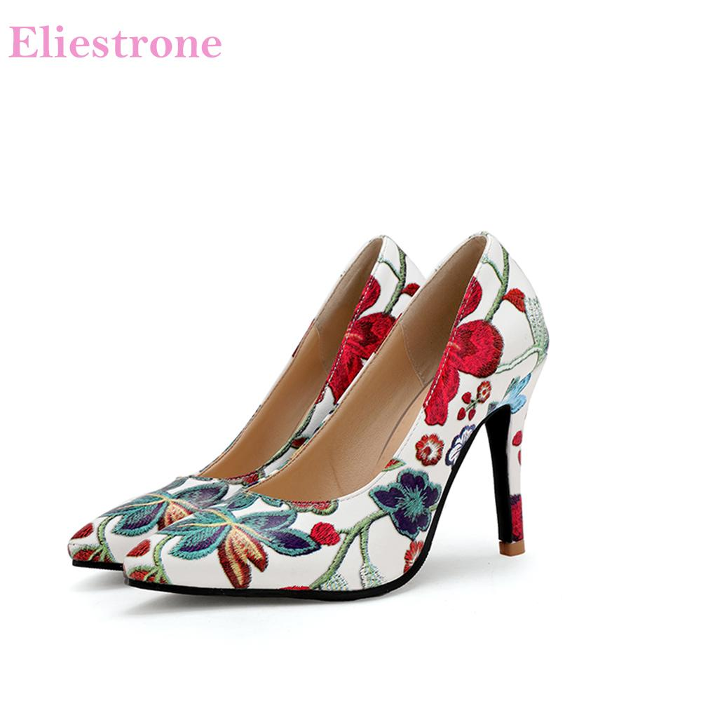 984c8b909e1 Hot Brand New Elegant Blue Green Women Pumps Comfortable 3 4 Inch High Heels  Lady Party Shoes SL66 Plus Big Size 11 33 43 45 Sexy Shoes Clogs For Women  From ...