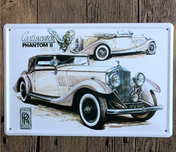 Vintage Car Tin Signs Wall Art Retro Route 66 Tin Sign Old Wall Metal Painting Art Bar Pub Coffee Restaurant Home Decoration 777