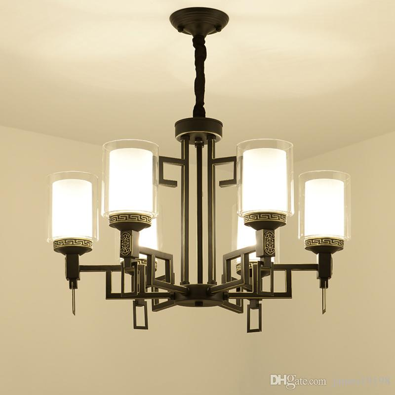 China glass cover led lamp wrought iron chandelier 810 heads living china glass cover led lamp wrought iron chandelier 810 heads living room bedroom hall hotel home lighing suspension g404 simple chandelier ship chandelier aloadofball Gallery