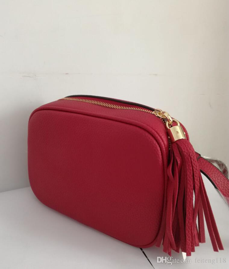 Mujeres de moda bolsa famosa diseñador de la marca Bolsa de hombro borla Soho Bolsas Ladies Tassel Litchi Perfil Mujeres Messenger Bag 308364