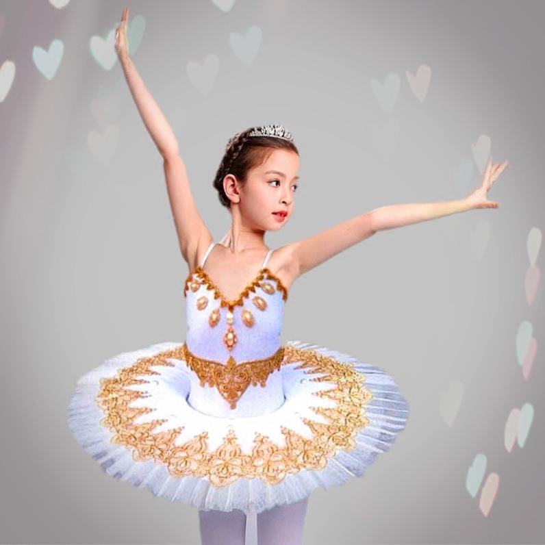 0201760715 Children's Ballet Tutu Dress Skirt Little Swan dance skirt princess girls'  costume martial artsClassic group dance