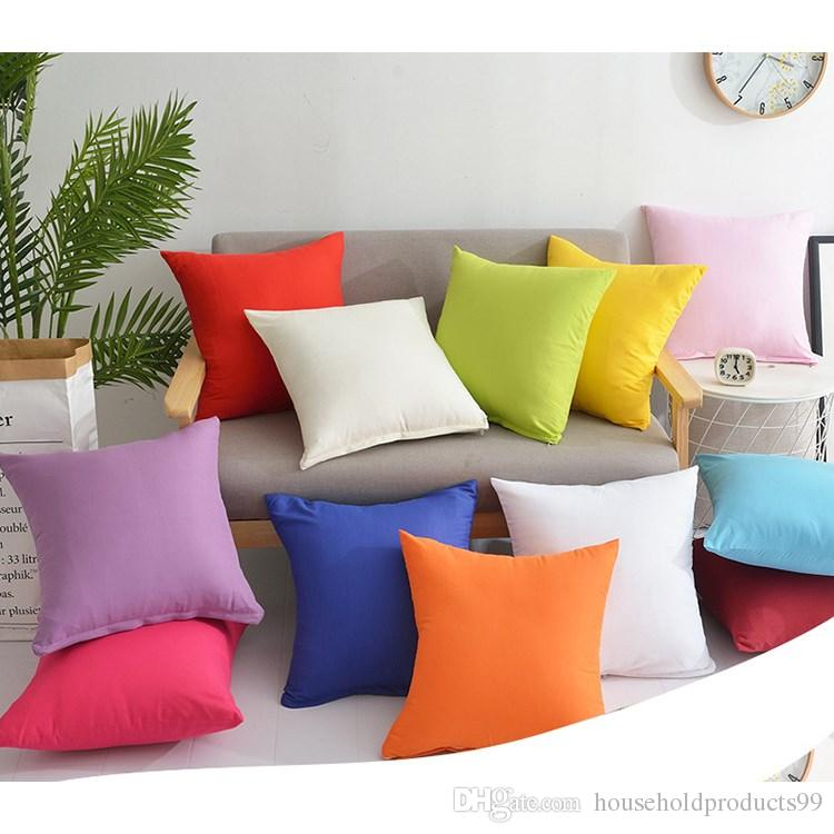 45 * 45CM Home Textiles Decorative Pillow Cover Sofa Cushion Pillowcase Candy Color Pillow Slip Gift for Bedroom