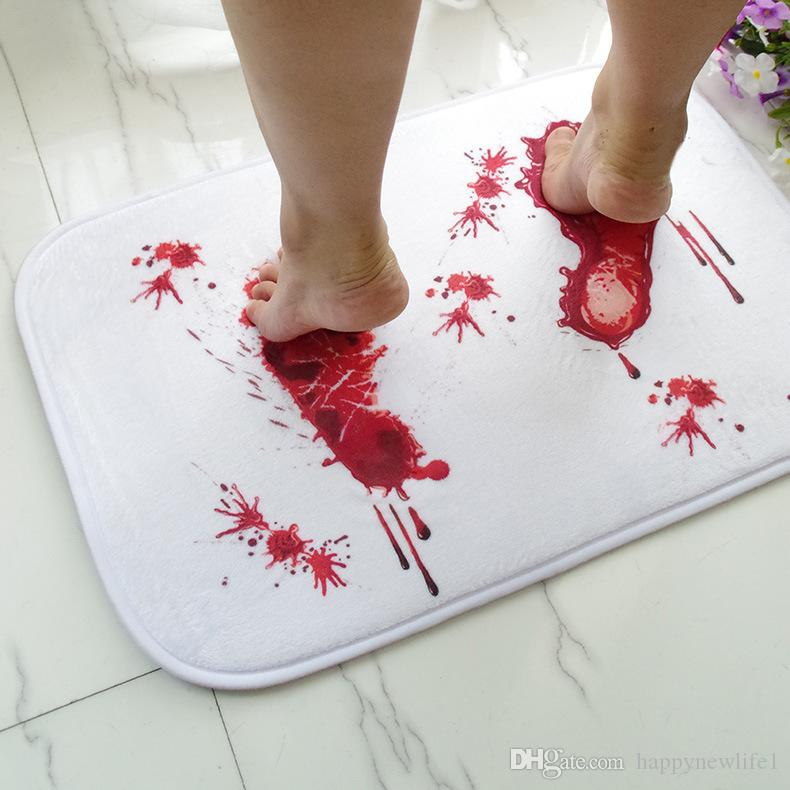 جديد الإبداعية الجدة الباب الدم السجاد حمام امتصاص الماء غير زلة البساط رعب الرعب السجاد ممسحة المنزل الحصير الباب