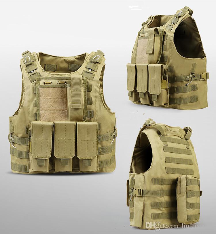 USMC Airsoft Tactical Vest Molle Combat Assault Plate Carrier Tactical Vest CS Outdoor Clothing Hunting Vest