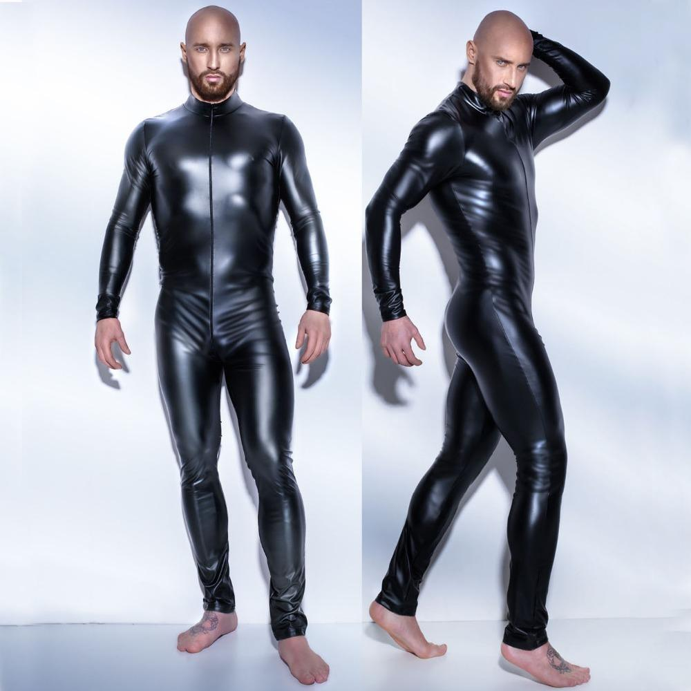 Acheter 2017 Homme En Cuir Latex Combinaison Teddy Body Noir Brillant  Erotic Lingerie Bodys Zentai Body Wear Combinaison S 4XL De  33.87 Du Freea   77b16cfd71d