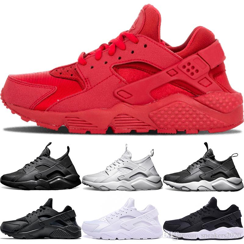9bc60e60695fb 2019 Air Huarache 4 IV 1 Men Women Running Shoes Ultra Triple Black White  Red Oreo Huaraches Designer Trainers Sport Sneaker Size 5.5 11 From  Sneakers2020