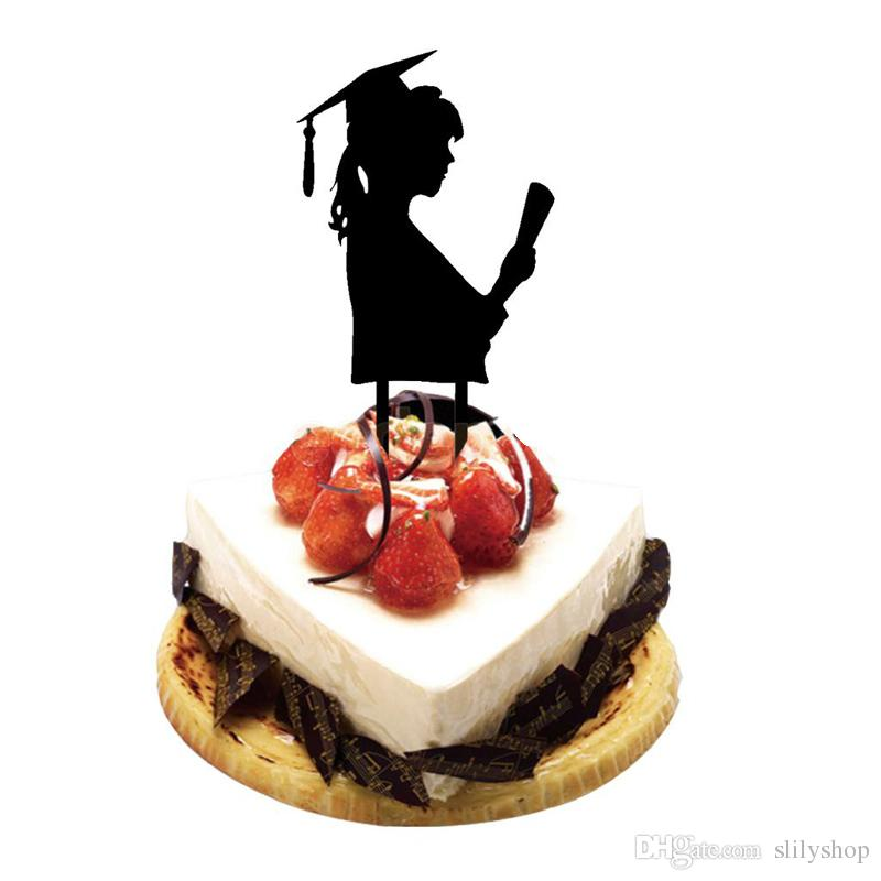 Acrylic Cake Topper Graduation Student Silhouette Cake Topper Graduation Party Decora