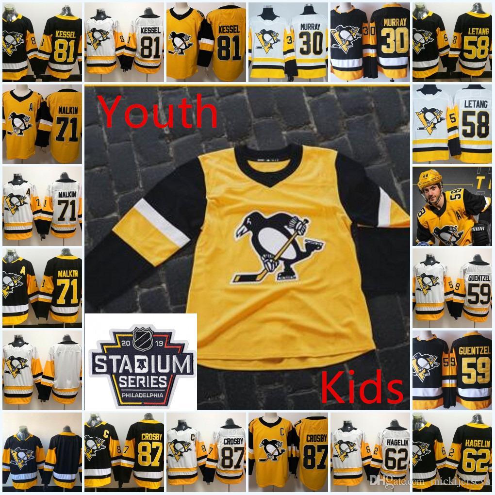 Youth Pittsburgh Penguins Sidney Crosby Jersey Kids Evgeni Malkin Phil  Kessel Kris Letang Jake Guentzel Matt Murray Carl Hagelin Jersey Kris  Letang Phil ... 8da155d80