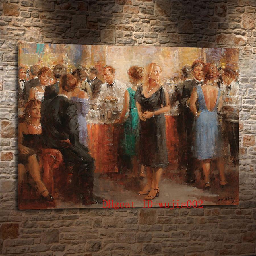 Großhandel Abend Party, Leinwand Gemälde Wohnzimmer Home Decor Moderne  Wandmalerei Ölgemälde Von Wujia002, $6.04 Auf De.Dhgate.Com | Dhgate