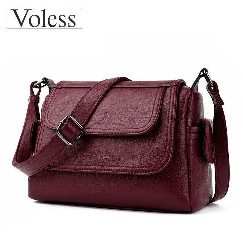 7f85ec8bb6c0 Fashion Woman Bag Leather Crossbody Bags For Women Messenger Bags ...