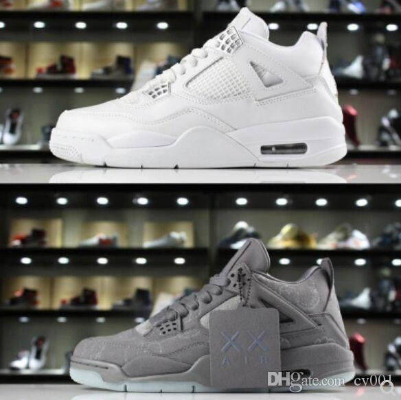7b9e73f5d95cac 2018 KAWS X 4 XX Kaws Cool Grey White Black Glow Basketball Shoes Mens Best  Quality White Blue Black Sports Sneakers Latest Shoes Shoes Brands From  Cy001