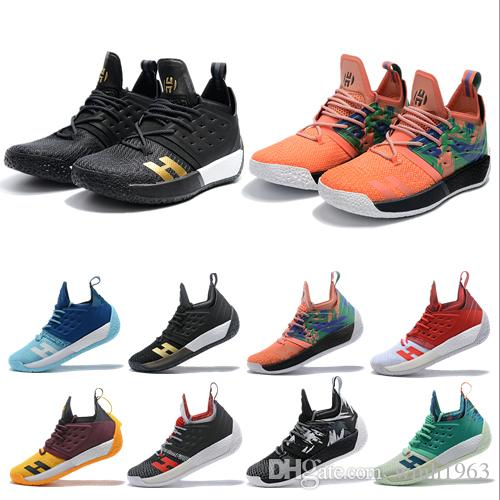 2b25fa82a02f 2019 James Harden 2 Basketball Shoes Mens Harden 2 Gold Championship MVP  Finals Sports Shoes Training Sneakers Running Shoes Size 7 12 Boys  Basketball Shoes ...