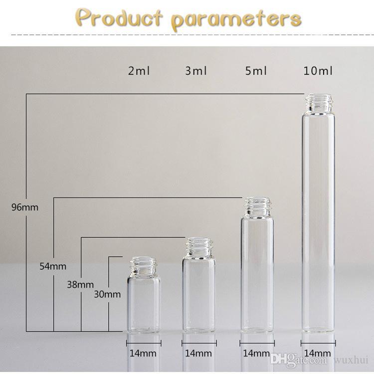 2 ml / 3 ml / 5 ml / 10 ml Mini Portátil Spray Frasco Vazio Perfume Garrafas De Vidro Recarregável Perfume Atomizador Acessórios de Viagem