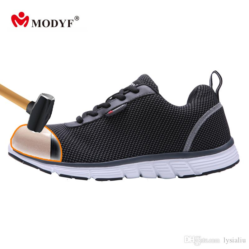 promo code 78e74 1cb2d 2019 MODYF Men Safety Steel Toe Work Shoes Lightweight Breathable Casual  Footwear From Lysialiu,  85.03   DHgate.Com