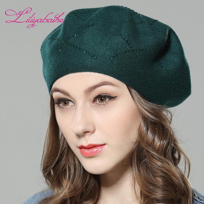 Acquista Liliyabaihe Nuovo Cappello Invernale Da Donna Berretti In Maglia  Di Lana b05a39e94243