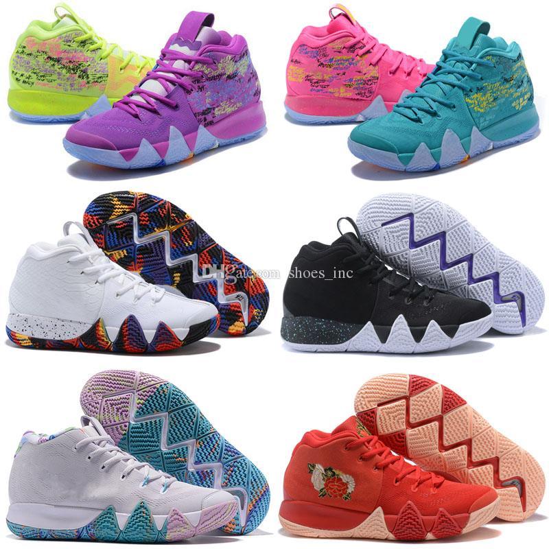 bccc4841b19b3 2018 Nuevo Kyrie Irving 4 Zapatos De Baloncesto Para La Mejor Calidad  Irving4 Mujeres Hombres Irving 4s Púrpura Amarillo   Negro Blanco  Zapatillas ...