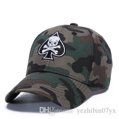 5445beaf3ff46 2018 New Camo Bone Strapback Fashion Snapback Hats Baseball Caps ...