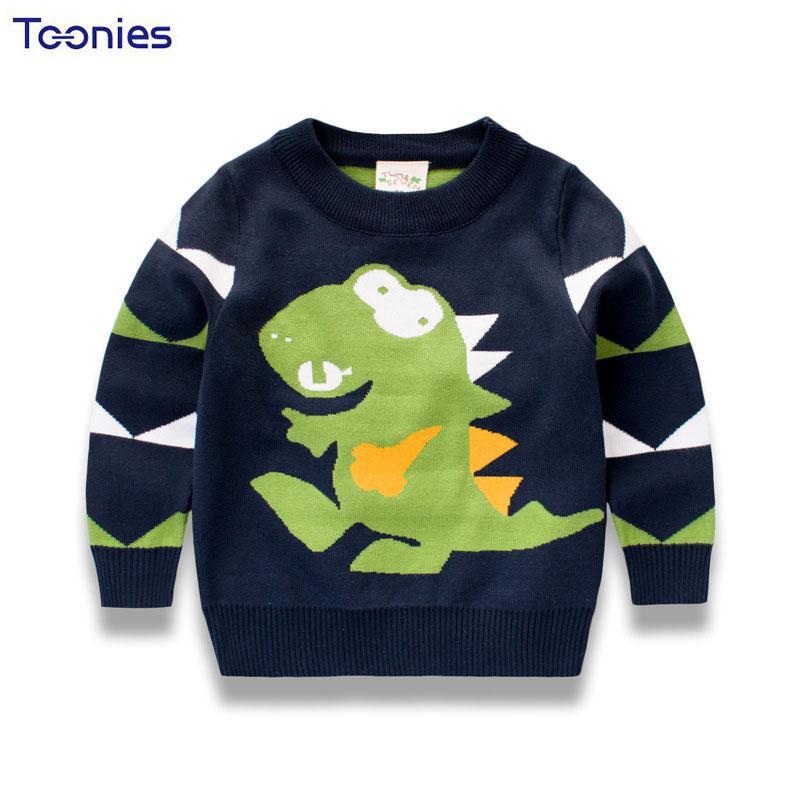 9db61e92f458 Kids Sweaters Autumn Winter Children Clothing New Cartoon Print Baby ...