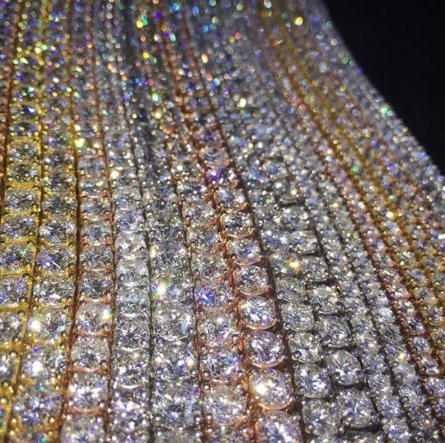 الكلاسيكية الهيب هوب رجل قلادة سلاسل مجوهرات جولة قص تنس سلسلة طويلة رجال مجوهرات روز سلاسل الذهب