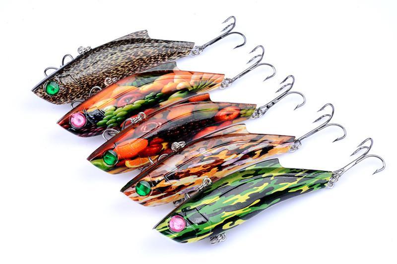 새로운 페인트 VIB 물고기 레이저 swimbaits 시뮬레이션 유혹 9cm 26.5g 3D Eyes far Dray fishing lur