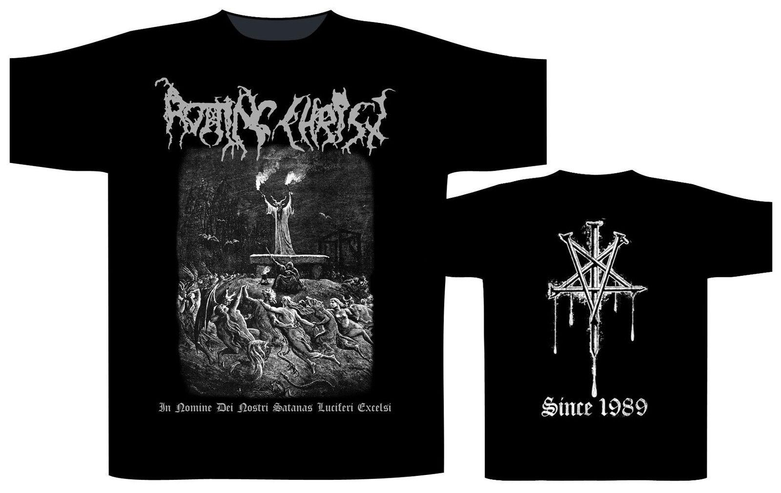 Rotting Christ In Nomine Dei Nostri Shirt XXL T-Shirt Black Metal Offcl Tshirt New Summer Style top tee