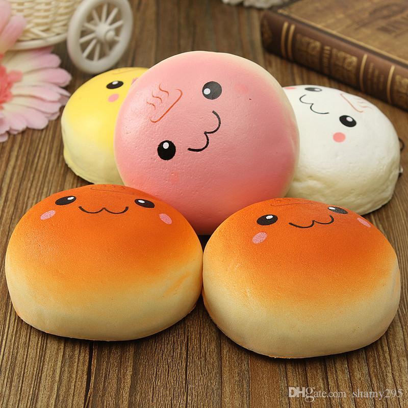 10cm Smile Marshmallow Bun Squishy Phone Charm Squishy Pendants Baby Toys Phone Straps for Cell Phone Decoration 2018 new hot