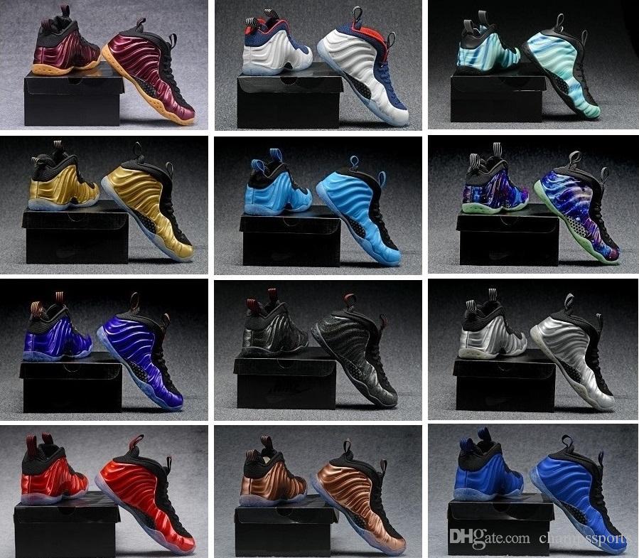 80d1d7b668 Compre Com Caixa Original HOT Penny Espumas Hardaway Homens Sapatos De  Basquete Sneaker Um Pro Berinjela Spray De Cobre Jato Real Nos 7 13 De  Champssports