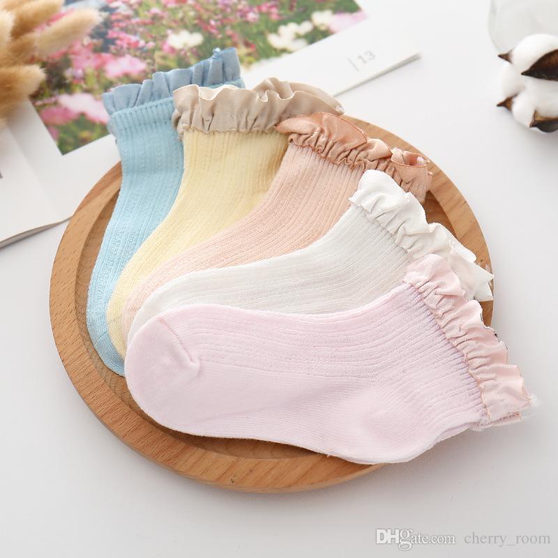 0e9e21d0b4289 Little baby girls socks hot sell children lace ruffle short socks girls  cotton princess sock kids cotton knitting Ruffle short socks A9816