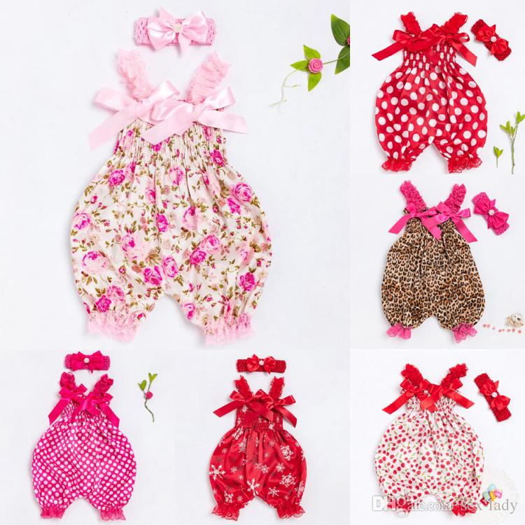 4e2c5665115d9 2018 Baby Clothing Sets Girls Bloomer Newborn Bodysuit Sling Clothes  Jumpsuit Original Christmas Satin Diaper Cover with headband
