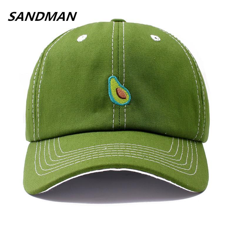 56622be69cd SANDMAN Cotton Avocado Banana Green Fruit Snapback Cap For Men Women Hip  Hop Dad Hat Baseball Cap Bone Garros Custom Fitted Hats Design Your Own Hat  From ...