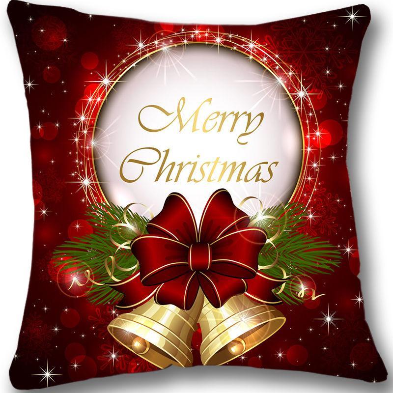 c468c9f80263 New Christmas Custom Cushion Cover 18Red Decorative Throw Pillow ...