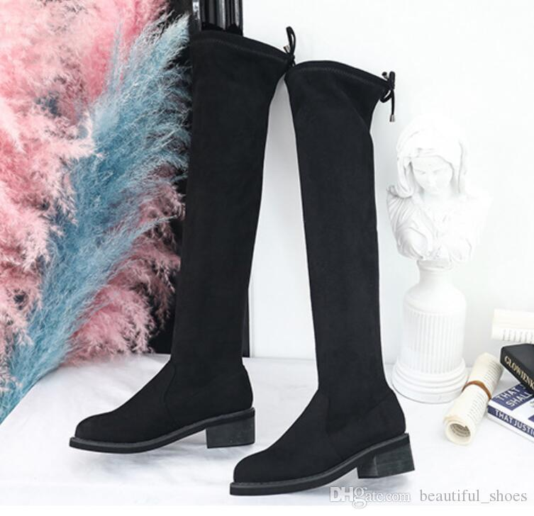 0246a137a13 Over the Knee Boots Suede Long Boots Woman Autumn Winter 2018 New ...