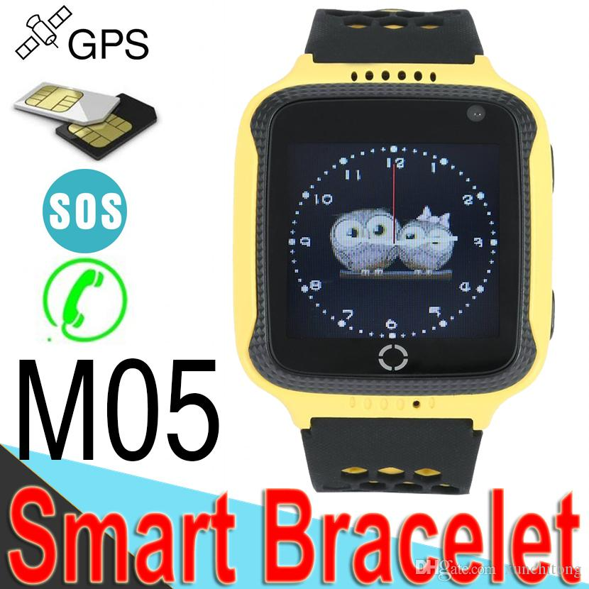 M05 Smart Watch for Children GPS Watch for Apple Android Phone Smart Baby Watch Electronics 3 Colors Free Ship M2