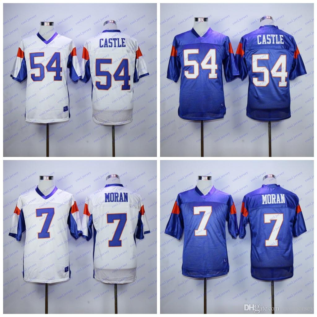 fabd90188 Mens Blue Mountain State Movie Football Jersey 54 Kevin Thad Castle Darin  Brooks 7 Alex Moran Stitched S 3XL White Purple UK 2019 From Cooljersey