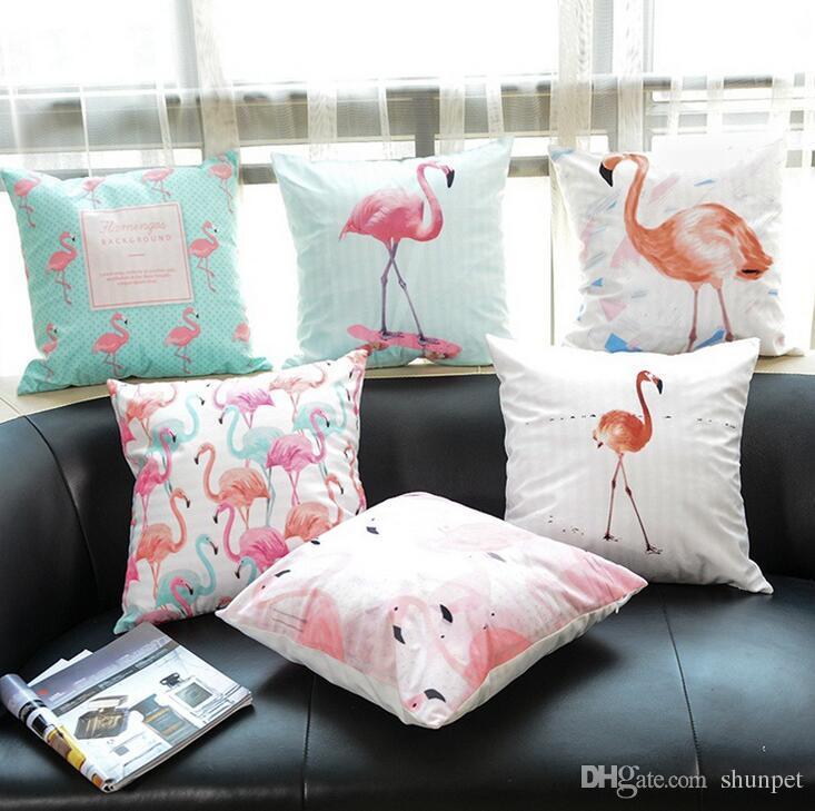 45x45cm Tropical Leaves Pillow Case Sofa Cushion Cover Throw Bedroom Home Decor