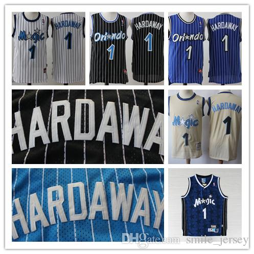 reputable site 3f56d f9a20 Mitchell & Ness Basketball Jerseys Retro Hardaway Jerseys Stitched Hardwood  Classic Mesh Orlando 1 Hardaway Retro Jerseys