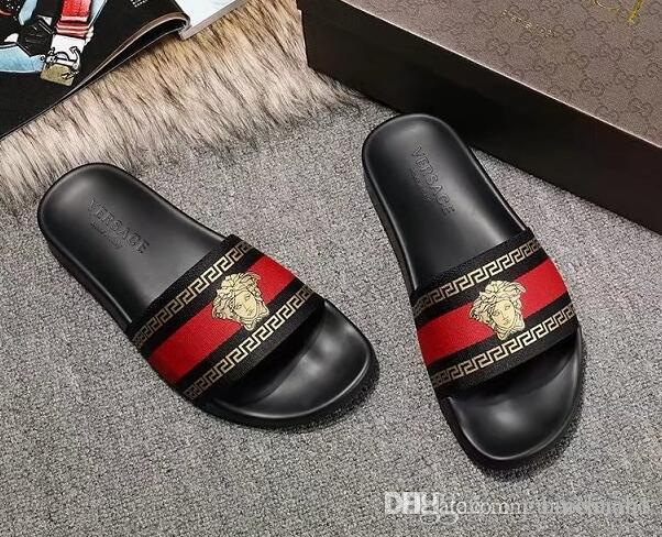 mens fashion thick Molded rubber footbed slide sandals with Beige ebony tiger print euro38-46 box+dust bags buy cheap nicekicks outlet discount authentic wholesale price cheap online cheap free shipping fashion Style cheap online WzvUop5