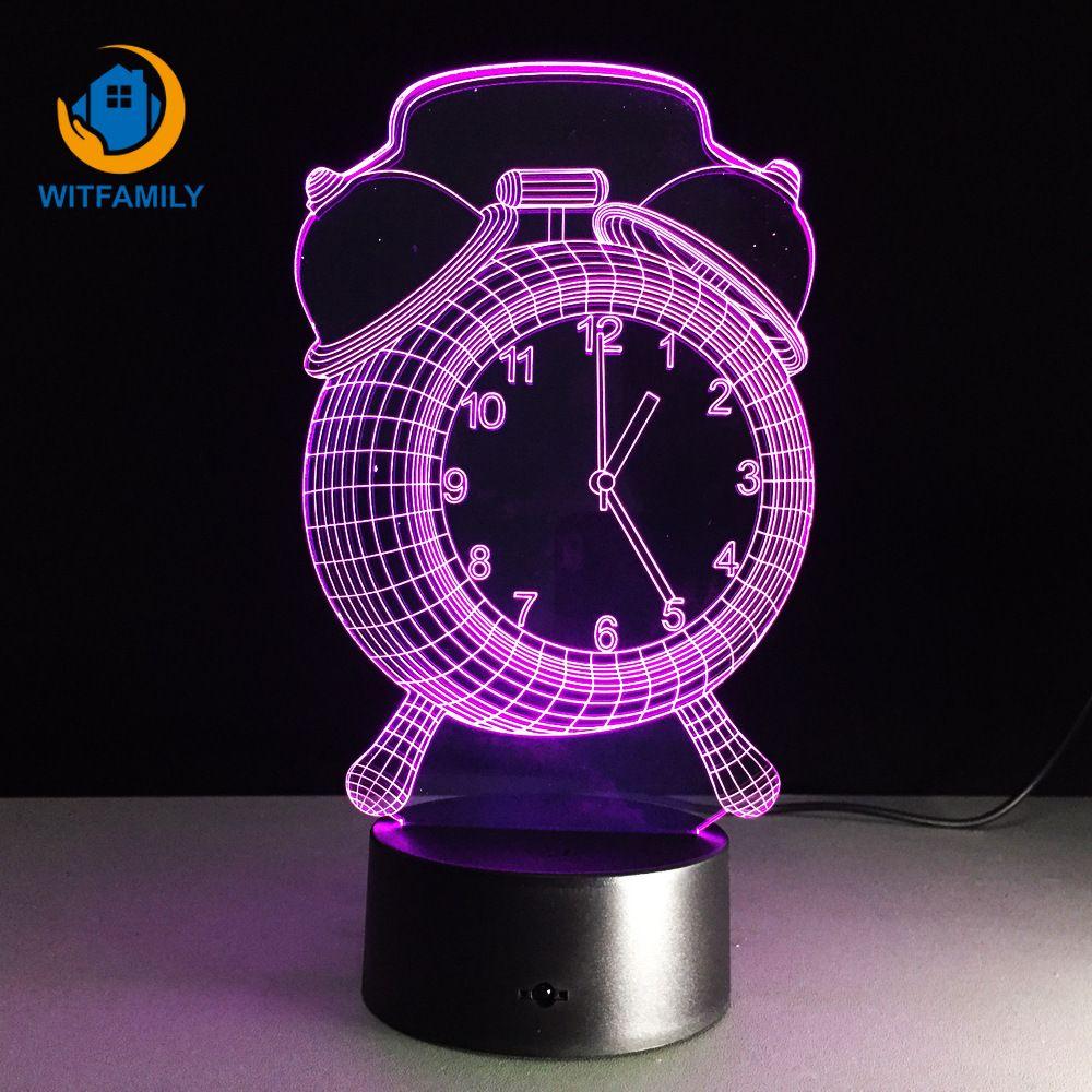 Muebles De Nocturna Usb Dormitorio Táctil 3d Siete Niños Hogar Colores Lámpara Despertador Led Mesa Reloj Para Escritorio Luz El 6yfY7gb