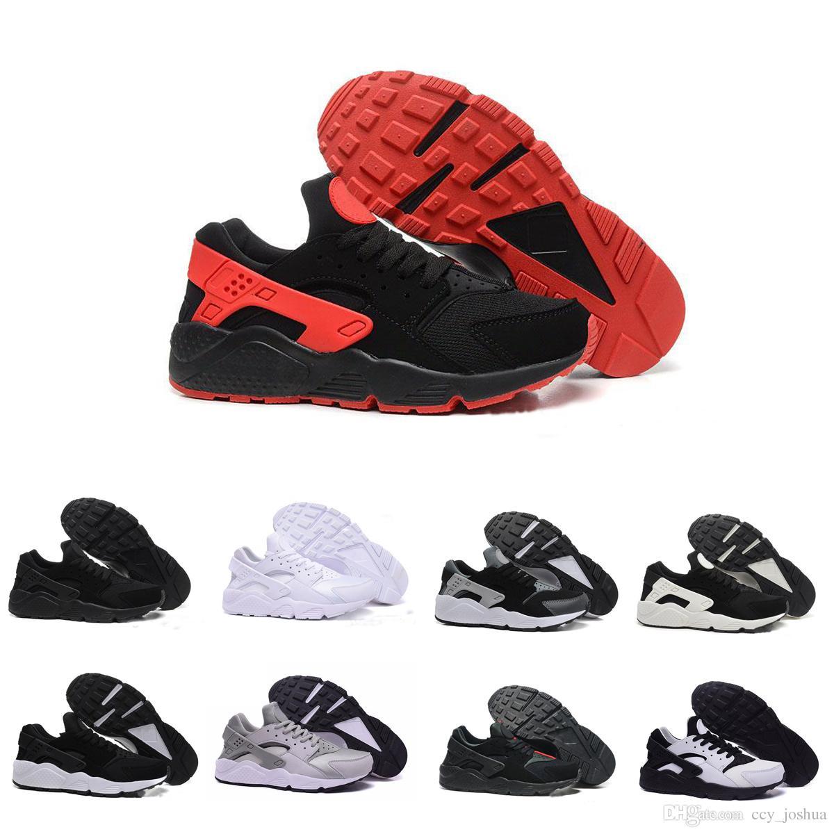 huge selection of ec6d5 b025d Acquista Nike Air Huarache 1 2 3 I Ii Iii Cheap Air Huarache 2 Ii Ultra  Classico Tutto Bianco E Nero Huaraches Scarpe Uomo Donna Sneakers Scarpe Da  Corsa ...
