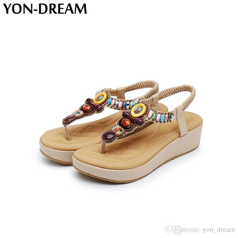 Femme Gros Anti Dream Prix En Flop Skid Sandales Yon Flip Ethnique Chaussures Femmes D'été Style Lady uiXPZk