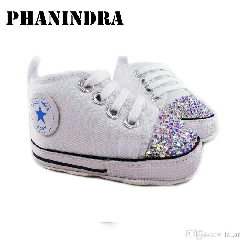 bc093e035363 2019 Princess Rhinestone Pink Baby Shoes Handmade AB Rhinestone Crystal  Baby Toddler Bling Bling Shoes Kids Fashion Girl From Leilar