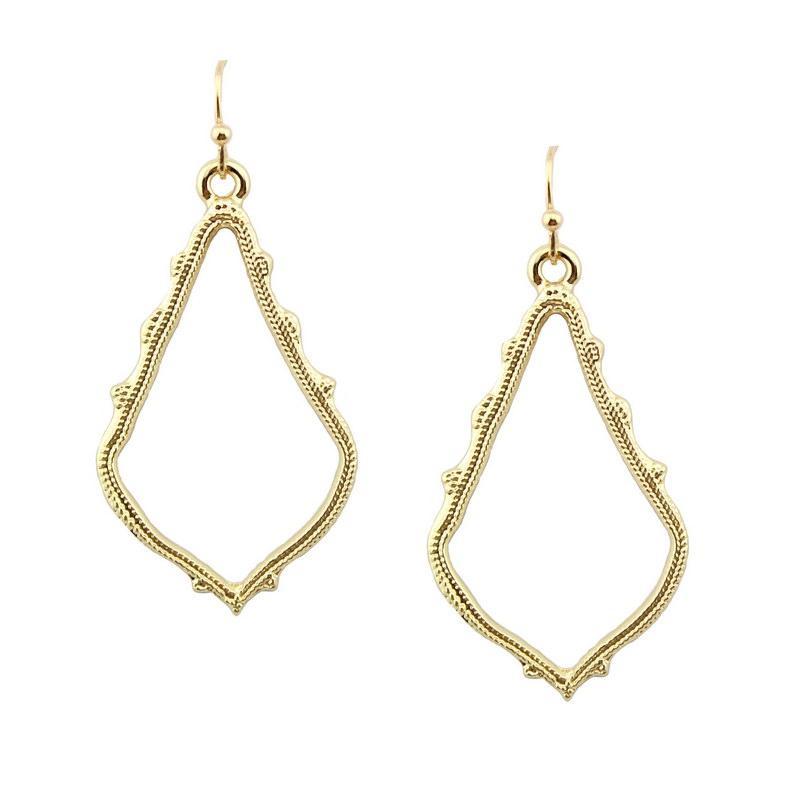 ZWPON 2018 Gold Filled BrandChandelier Earrings Alloy Cutout Fashion Hollow  Teardrop Earrings for Women Statement Teardrop Earrings Chandelier Earrings  ... 13983d7f646c