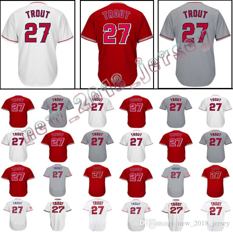e82d5cfa1c5 2019 Men S 27 Mike Trout 17 Shohei Ohtani Baseball Jersey Mike Trout  Embroidery Stitched Jerseys Fast From Perfect no 1