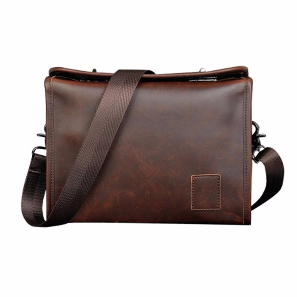 78ee2d69ccca Large Capacity Men Briefcase Casual Business PU Leather Shoulder Bag ...