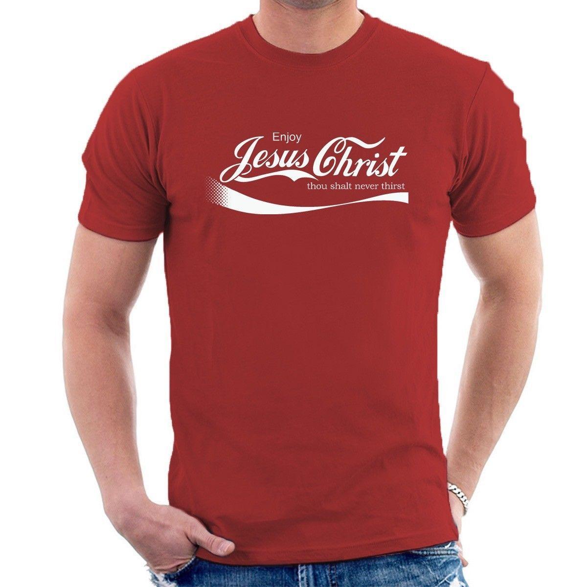 8dc97d88ce3361 Großhandel GENIESSEN SIE JESUS CHRISTUS T SHIRT Christian Koks Oca Cola  Inspirierte Lustiges T Shirt B04 Art Und Weiseart Mann T Shirts 100% Geben  ...