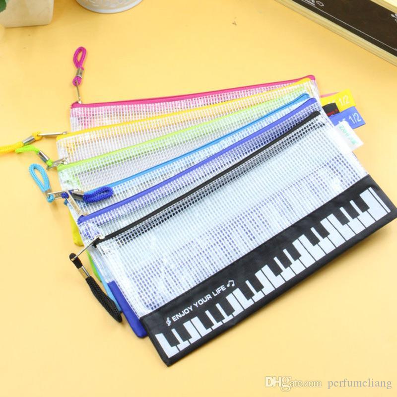 Crayon Mignon Sac À Stylo Porte-Maison Maison Divers Sac Pochette Musical Piano Clavier Crayon Étui École Papeterie Nouveau ZA5813