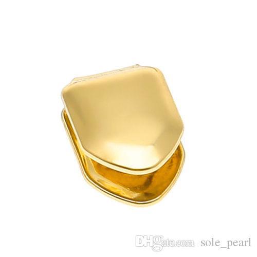 Брекеты один металлический зуб Grillz золото серебро цвет зубной Grillz Верхний Нижний хип-хоп зубы крышки ювелирные изделия тела для женщин мужчины мода вампир