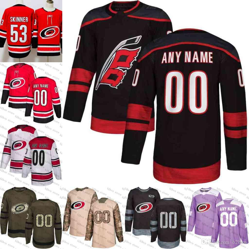 16d7e1904 2019 Custom Carolina Hurricanes Mens Customized 2019 New Black Third Uiform  Alternate White Red Purple Ice Hockey Jerseys Stitched S 3XL From B2bcn, ...