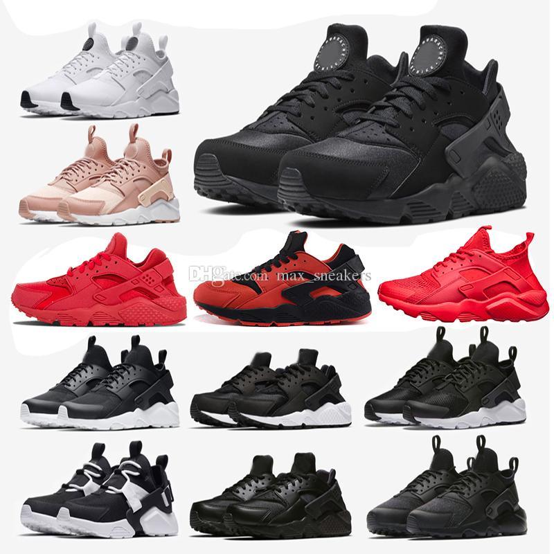 b6769531d1b9 New Huarache 1.0 4.0 Running Shoes Men Triple White Black Rose Gold ...