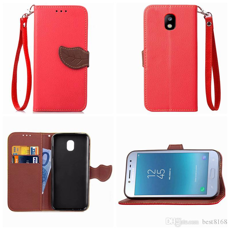 Leaf Wallet Leather For NOKIA 7 Plus Galaxy J6 J4 J2 Pro2018 Buckle Litchi Bright Flip Cover Cash Pocket Pouch Fashion Luxury Phone Purse